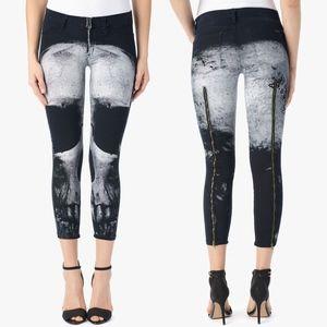 Hudson Nancy 'Skull' crop super skinny jeans - 26
